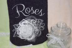 Wärmflaschenbezug Roses mit Wärmflasche