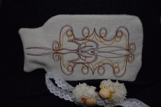 Wärmflaschenbezug Ornament mit Wärmflasche