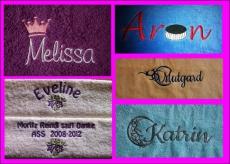Handtuch bestickt mit Namen