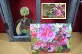 Messbuchhülle Blumen bunt Stickerei