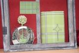 Messbuchhülle grün-grau Stickerei Kreuz