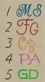 Waschhandschuh bestickt mit Monogramm