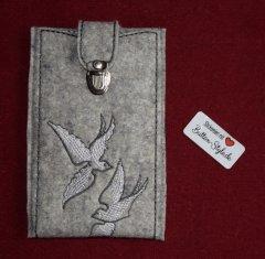 Handyhülle  Tauben mit Steckschloss