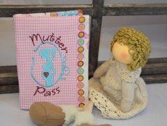 Mutterpasshülle rosa-türkies