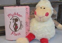 Mutterpasshülle - Wunschanfertigung rosa-braun
