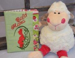 Mutterpasshülle - Wunschanfertigung grün-rot