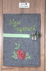 Tagebuch-Einband für Klade Rose